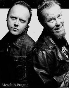 Metallica- Lars Ulrich and James Hetfield