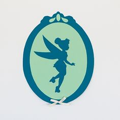 Tinker Bell Silhouette Wall Decoration - Be cute for the Tinker Bell Half or the Never Land 5K