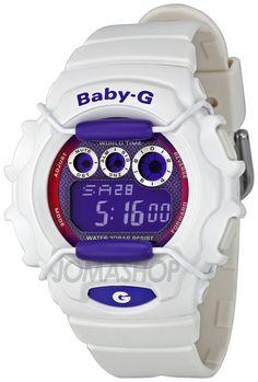 Casio Baby G Tough White Metallic Purple Dial Ladies Watch BG1006SA-7B d2f7055a92