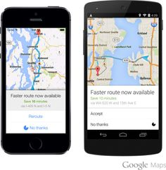 Google Maps App Now Continually Searching For Faster Route