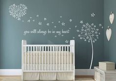 Nursery Wall Decals Wall Stickers 120 Silver Metallic