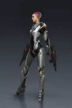ArtStation - Sci-fi suit female, Jianli Wu