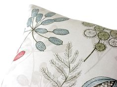 Woodland red dusty blue dusty green taupe off white by CoupleHome, $24.40