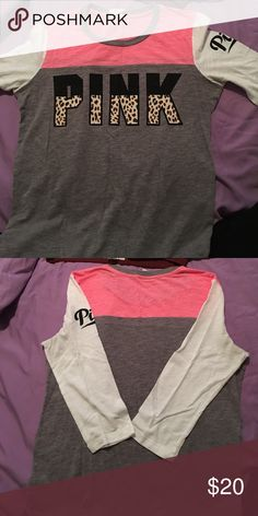 Vs tshirt Perfect condition looks great with tights Victoria's Secret Tops Tees - Long Sleeve