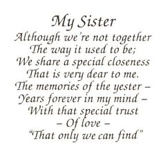 Image detail for -Virma decal 0047 - Mug Wrap Sayings-My Sister poem