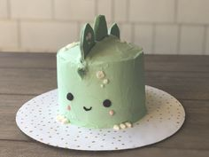 Peanut butter and jelly Dino birthday cake. More in my website Peanut butter and jelly Dino cake Peanut butter and jelly Dino cake Cakes. Pretty Birthday Cakes, Pretty Cakes, Cute Cakes, Beautiful Cakes, Amazing Cakes, Cake Birthday, Birthday Ideas, Birthday Cakes For Kids, Brithday Cake