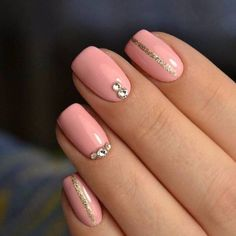 Ideas For Summer Manicure Colors Peach Nails Color For Nails, Manicure Colors, Pink Manicure, Rose Nails, Trendy Nail Art, Cool Nail Art, French Nails, Design Ongles Courts, May Nails