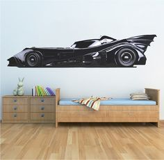 Batmobile Wall Mural Decal - Comic Wall Decal Murals - Primedecals