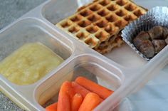 Waffle Peanut Butter Sandwich - 1st in the Lunchbox Series.  It's all real food!