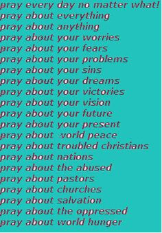 personal prayers i pray.