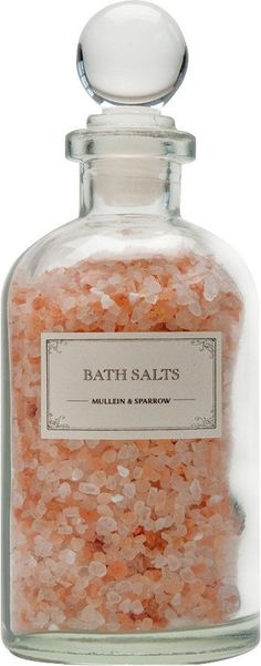 Mini Pink Himalayan Bath Salts Storage Jars & Containers