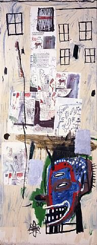 Jean-Michel Basquiat (December 22, 1960 – August 12, 1988) was an American artist.[1] Basquiat first achieved notoriety as part of SAMO, an informal graffiti group who wrote enigmatic epigrams in the cultural hotbed of the Lower East Side of Manhattan, New York City during the late 1970s where the hip hop, post-punk and street art movements had coalesced.