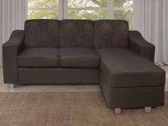 Sofá Chaise 3 Lugares Bello - Somopar - Temos outros modelos, outras marcas, outras cores. Confira no MagazineACGM. Compre comigo!