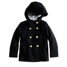 Girls' hooded collegiate peacoat - AllProducts - sale - J.Crew