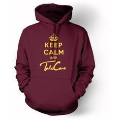 OVOXO KEEP CALM and TAKE CARE Hoodie Drake owl YOLO sweater pullover... ❤ liked on Polyvore