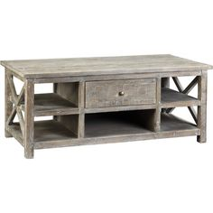 Arrange a vignette of art books or stack fashion magazines on this eye-catching coffee table, crafted of upcycled oak wood and showcasing openwork x-shaped s...