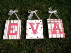 Eva or Ava PERSONALIZED and customized name art by thepresentplace, $60.00