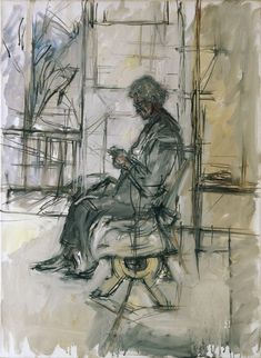 alberto_giacometti_mutter_im_atelier Alberto Giacometti Art paintings, sculptures, plastic arts, visual arts, art Alberto Giacometti, Giovanni Giacometti, Giacometti Paintings, Art Paintings, Figure Drawing, Painting & Drawing, Modern Art, Contemporary Art, Art Postal