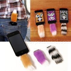 Furry Cute or Fashion Faux Paw? Tails For Your iPhone