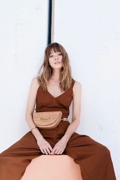 Half-moon Convertible Crossbody Belt Bag in Meadow Raffia. Made with organic cotton and eco-suede (made from recycled plastic bottles). Sustainable Textiles, Sustainable Fashion, Slow Fashion, Ethical Fashion, Fair Trade Fashion, Organic Cotton, Dress Up, Pure Products, Style Inspiration