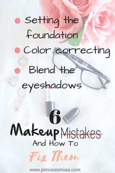 Having trouble with your foundation? Can't get your concealer to work? On this post I share 6 common makeup mistakes and how to fix them. For more advice and tips visit www.princessmiiaa.com