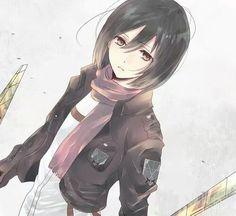 Mikasa Ackerman in Attack on Titan - Shingeki no Kyojin Armin, Eren X Mikasa, Anime Girls, Manga Anime, Anime Art, Super Anime, Fanart, Rivamika, Eremika