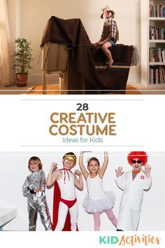 Whether it's for Halloween or drama class, you will find these DIY costume ideas effective and budget friendly. Halloween Activities For Kids, Activities For Boys, Halloween Kids, Happy Halloween, Creative Costumes, Easy Costumes, Homemade Costumes, Costume Ideas, Fun Classroom Games