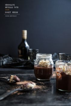 Chocolate Nutella Pots with Boozy Whipped Cream | Cook Republic