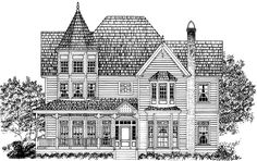 Queen Anne House Plan with 2797 Square Feet and 4 Bedrooms from Dream Home Source   House Plan Code DHSW64585  FAVORITE OUT OF THEM ALL