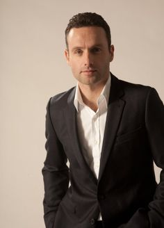 Andrew Lincoln is the closest celebrity look alike for my groom to be, love the black suit, no tie look!!!
