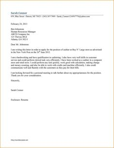 personal cover letter examples