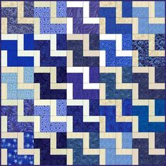 New to Quilting? You'll Love This Easy Endless Stairs Block Pattern: Endless Stairs Quilt Example