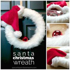 Santa Xmas Wreath