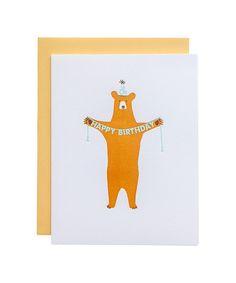 Happy Birthday Bear Card – Oh Happy Day Shop