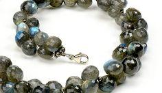 Labradorite briolettes from Francesca Lopez's necklace