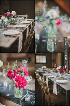 farmhouse table decor | VIA #WEDDINGPINS.NET