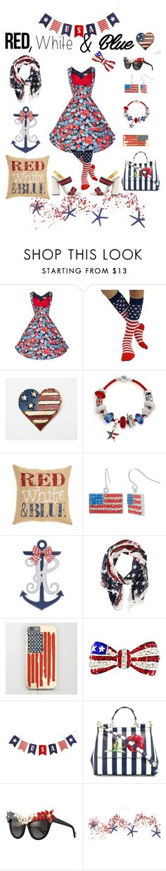"""""""You Just Gotta Ignite The Light And Let It Shine 🎉🇺🇸"""" by moonlightsilhouette ❤ liked on Polyvore featuring Bling Jewelry, Brentwood Originals, Crystal Sophistication, Scully, Dolce&Gabbana, Anna-Karin Karlsson, Gucci, redwhiteandblue and july4th"""