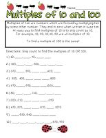 Multiply by 10 100 and 1000   math worksheets   Pinterest   Math ...