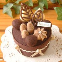 Originales pastelillo en fieltro ✿⊱╮