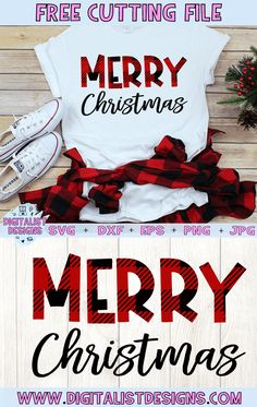 Merry Christmas Free Design for Cricut and Silhouette Free Merry Christmas SVG, DXF, PNG, EPS, & JPG! A plaid holiday printable cut file for Cricut and Silhouette. Cricut Christmas Ideas, Christmas Verses, Merry Christmas, Christmas Craft Projects, Diy Christmas, Vinyl Christmas Shirts, Christmas Vinyl Crafts, Christmas Clothes, Xmas