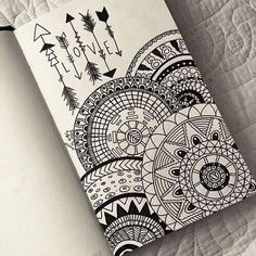drawing, love, and mandala image art drawings, art - mandala art sketch Doodle Art Designs, Doodle Patterns, Zentangle Patterns, Zentangles, Easy Zentangle, Doodle Art Drawing, Mandalas Drawing, Drawing Ideas, Easy Mandala Drawing
