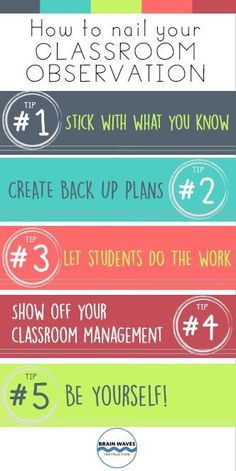 Check out 5 tips and tricks to help you nail your next classroom observation!
