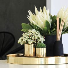 Up-cycle our pure copper and brass Cocolux candle vessels and a planter of vase.