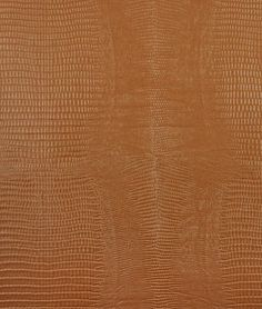 Nassimi Reptile Faux Leather Vinyl - Ochre Brown