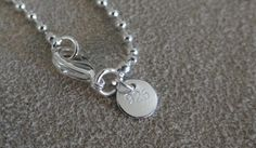 18 Ball Bead Sterling Silver Chain by SilverKomodo on Etsy, $14.00