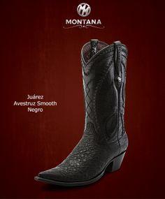 #Montana #Botas #Juarez #AvestruzSmooth #Modelo JR203A2 #Color Negro #MontanaisBack
