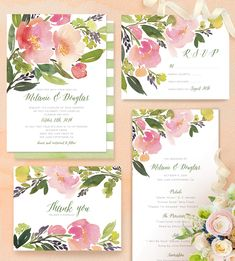 Planning a garden wedding? Why not try a delicate Watercolor Floral Wedding Invitation, like this design by Minted artist Yao Cheng @minted.
