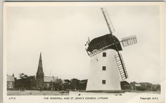 Frith's Real Photo Post Card, The Windmill And St. John's Church, Lytham. Lancs'   eBay