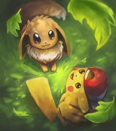 Pokemon Let's Go! by Foxeaf on DeviantArt Pokemon Let's Go! by Foxeaf Pikachu Pikachu, Pokemon Eevee, Pokemon Comics, Pokemon Fan, Pokemon Fusion, Pokemon Cards, Eevee Wallpaper, Cute Pokemon Wallpaper, Cute Cartoon Wallpapers