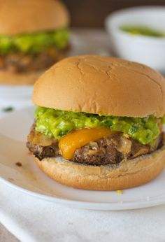 Southwest Chipotle Burgers with Guacamole...I'm just repinning this because i'm sitting in class and i would give anything to eat this burger right now!